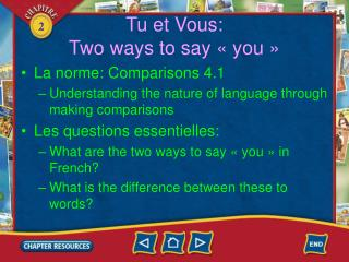 Tu et Vous: Two ways to say «you»
