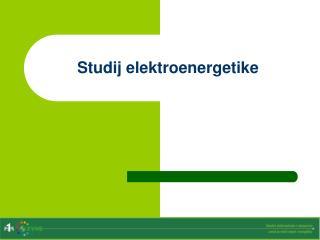 Studij elektroenergetike