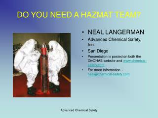 DO YOU NEED A HAZMAT TEAM
