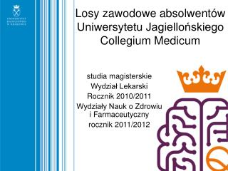Losy zawodowe absolwentów  Uniwersytetu Jagiellońskiego Collegium Medicum