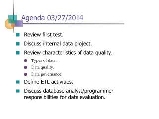 Agenda  03/27/2014