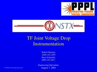 TF Joint Voltage Drop Instrumentation
