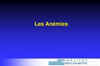 Les Anémies