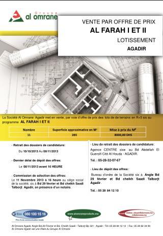 -  Retrait des dossiers de candidature:  Du  10/10/2013  Au  08 /11/2013