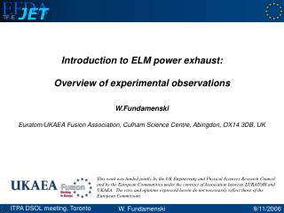 Introduction to ELM power exhaust: Overview of experimental observations