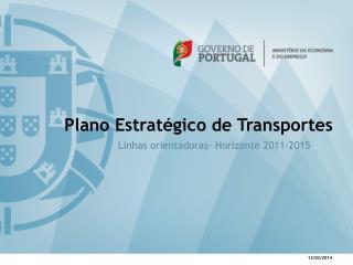Plano Estrat gico de Transportes