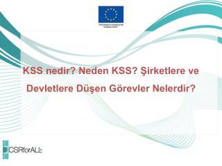 KSS nedir? Neden KSS? Şirketlere ve Devletlere Düşen Görevler Nelerdir?