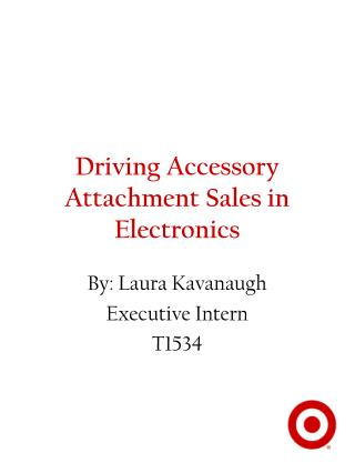 Driving Accessory Attachment Sales in Electronics