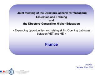 France - October 23rd 2012