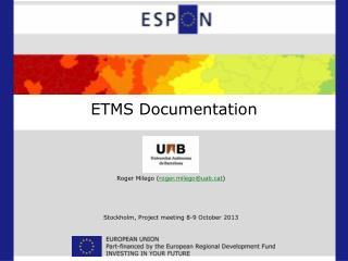 ETMS Documentation