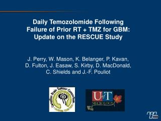 Daily Temozolomide Following Failure of Prior RT + TMZ for GBM: Update on the RESCUE Study