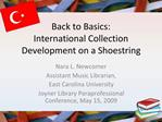 Back to Basics: International Collection Development on a Shoestring