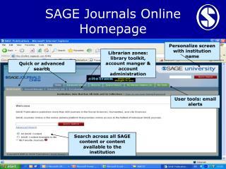 SAGE Journals Online Homepage