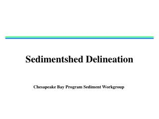 Sedimentshed Delineation