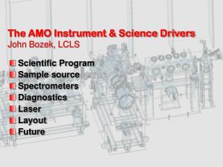 The AMO Instrument & Science Drivers John Bozek, LCLS