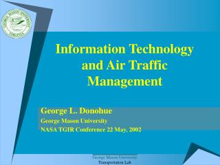 Information Technology  and Air Traffic Management