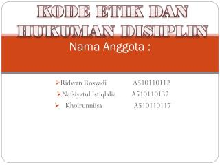 Nama Anggota  :