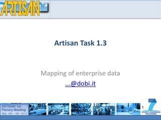 Artisan Task 1.3