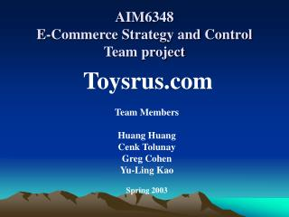 AIM6348  E-Commerce Strategy and Control Team project