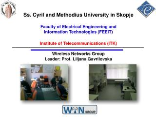 Ss. Cyril and Methodius University in Skopje  Faculty of Electrical Engineering and  Information Technologies FEEIT  Ins