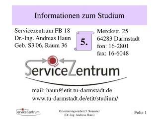 Informationen zum Studium