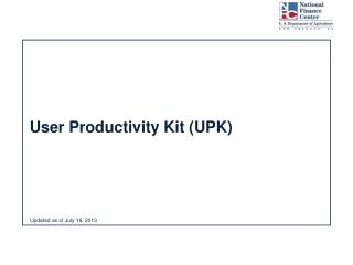 User Productivity Kit (UPK)