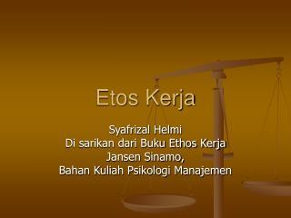 Etos Kerja