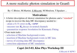 A more realistic photon simulation in Geanfi