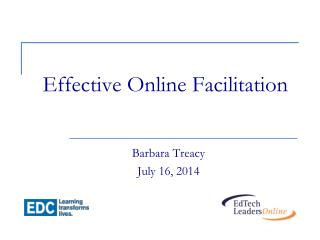 Effective Online Facilitation