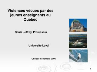 Violences vécues par des jeunes enseignants au Québec
