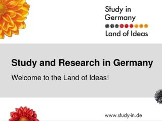 Study and Research in Germany
