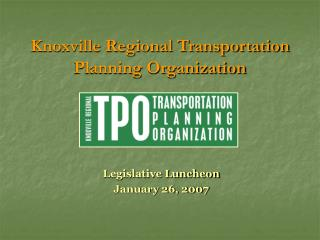 Knoxville Regional Transportation Planning Organization