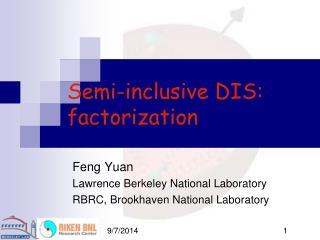 Semi-inclusive DIS: factorization