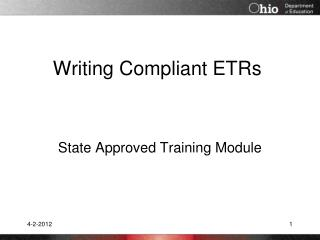 Writing Compliant ETRs