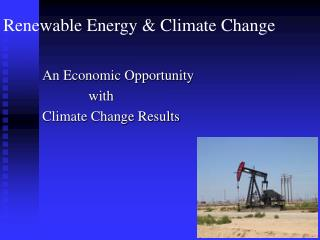 Renewable Energy & Climate Change