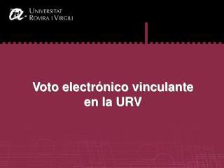 Vot electrònic a la URV