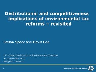 Distributional and competitiveness implications of environmental tax reforms – revisited