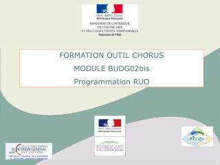 FORMATION OUTIL CHORUS MODULE BUDG02bis Programmation RUO