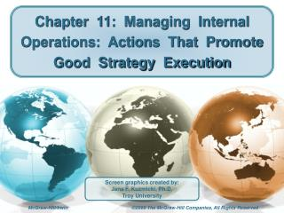 Chapter  11:  Managing  Internal  Operations:  Actions  That  Promote  Good  Strategy  Execution