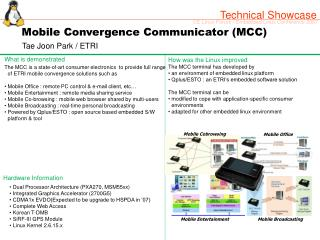 Mobile Convergence Communicator (MCC)