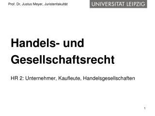 Prof. Dr. Justus Meyer, Juristenfakult t