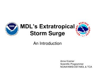 MDL's Extratropical Storm Surge