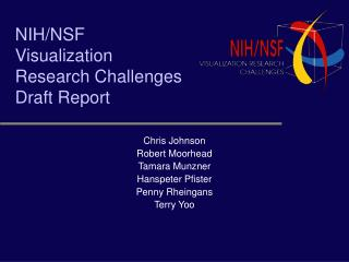 NIH/NSF Visualization Research Challenges Draft Report
