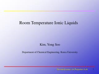 Room Temperature Ionic Liquids