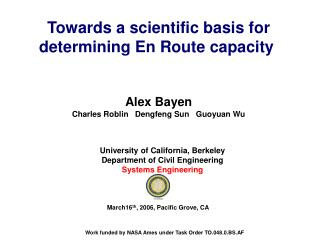 Towards a scientific basis for determining En Route capacity