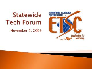 Statewide Tech Forum