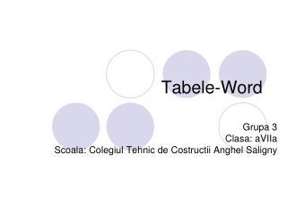 Tabele-Word