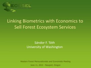 Linking Biometrics with Economics to Sell Forest Ecosystem Services