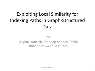 Exploiting Local Similarity for Indexing Paths in Graph-Structured Data