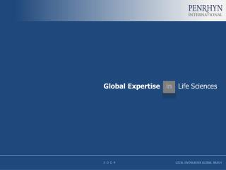Global  Expertise in Life Sciences